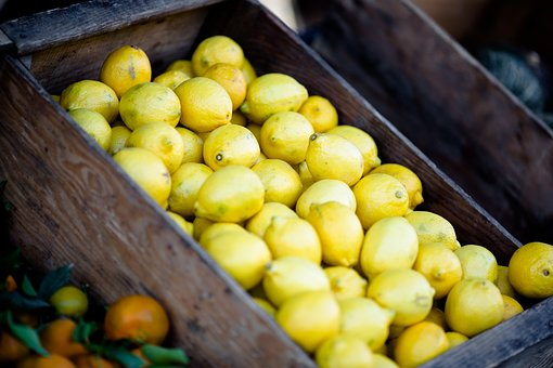 Lemons, Fruits, Basket, Market, Food