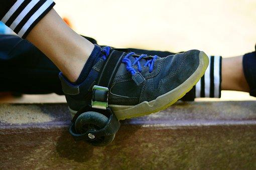 Heel Roller, Funrollers, Movement, Sport, Play, Leisure