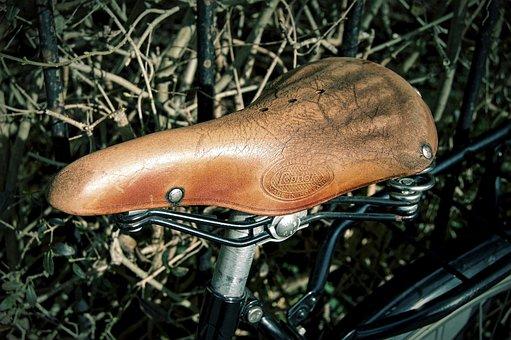 Saddle, Bicycle Saddle, Leather Saddle, Suspension