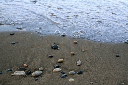 Shore, Stones, Shoreline, Sea, Beach, Water, Summer