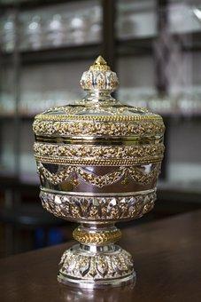 Silver, Handmade, Souvenir, White, Vintage, Metal