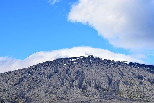 Glacier, Snaefellsnes, Iceland, Snaefellsjokull, Sky