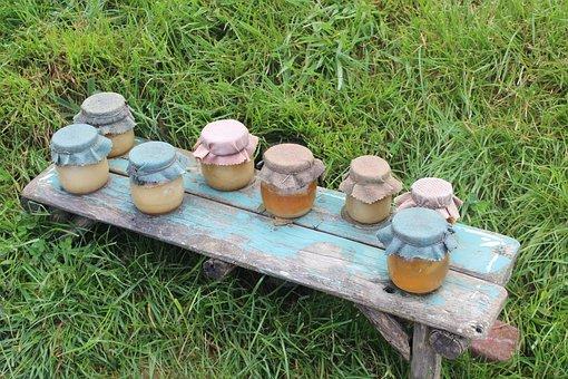 Jars, Honey, Jam, Food, Sweet, Natural, Yellow