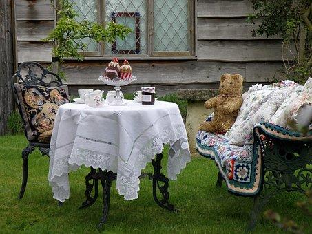 Tea Party, Teddy Bear, Table