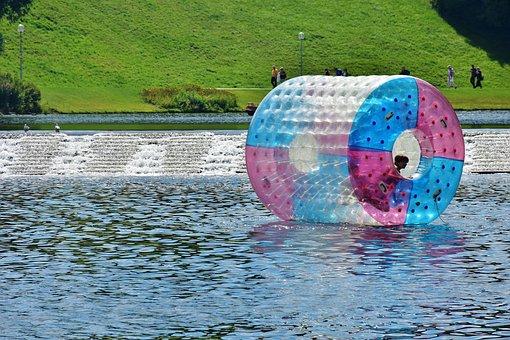 Water Roller, Water, Sport, Water Sports, Lake, Leisure