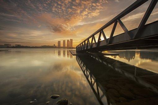Nature, Landscape, Water, Steel, Bridge, Rocks
