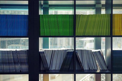 Office, Work, Business, Bookshelves, Books, Piles