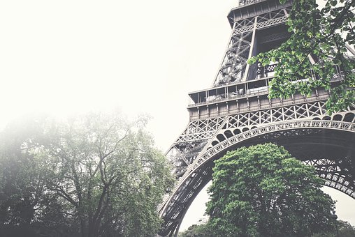 Eiffel Tower, Architecture, Trees, Leaves, Nature, Sky