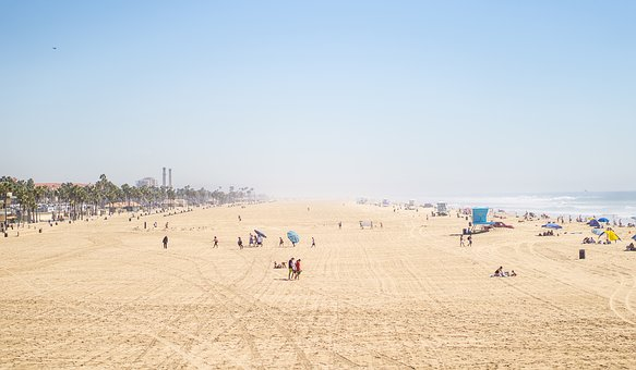 Beach, Sand, Sunshine, Summer, Blue, Sky, People, Crowd