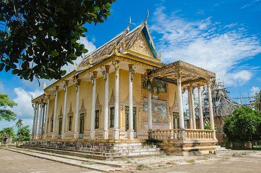 Pagoda, Asian, Cambodia, Temple, Architecture, Building