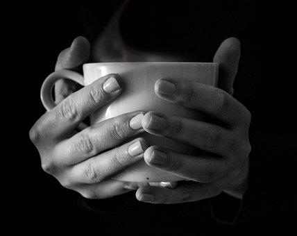 Cup, Mug, Coffee, Tea, Hot, Steam, Smoke, Hands