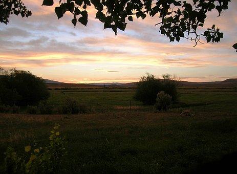 Sunset, Rural, Sky, Landscape, Sunrise, Countryside