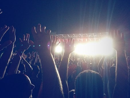 People, Crowd, Hands, Concert, Show, Stage, Fun