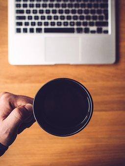 Coffee, Cup, Mug, Office, Desk, Business, Working