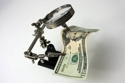 Money, Ticket, Dollars, Cash, Magnifying Glass, Welder