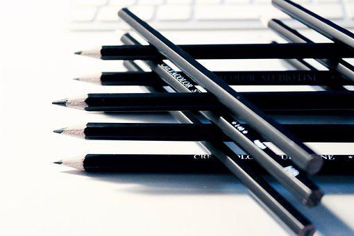Pencils, Writing, Drawing, Creative, Design, Business
