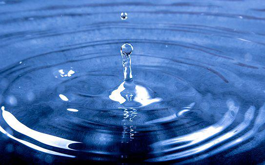 Water, Drop, Splash, Blue, Wet, Raining
