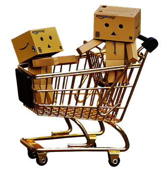 Danbo, Figures, Shopping Cart, Shopping, Together