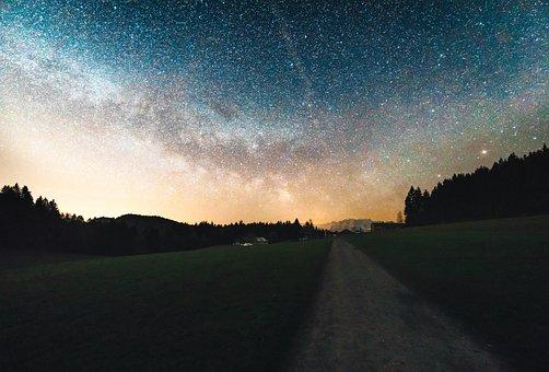 Stars, Galaxy, Sky, Night, Evening, Dark, Lights, Space
