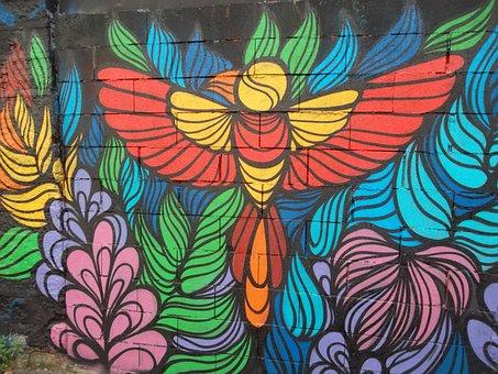 Streetart Paris, Graffiti, Street, City, Painting