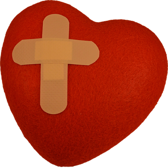 Heart, Patch, Heartache, Grief, Evil, Bandage, Protect