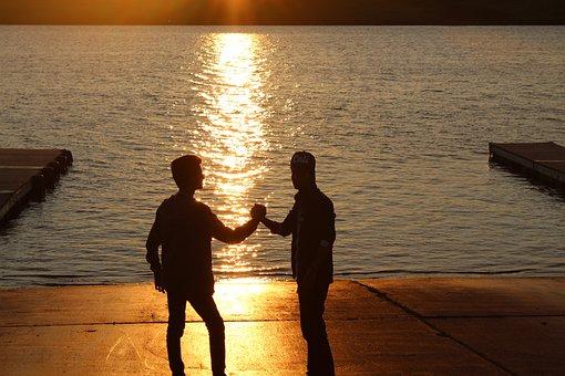 Best Friends, Friends, Friendship, Hands, Sunset