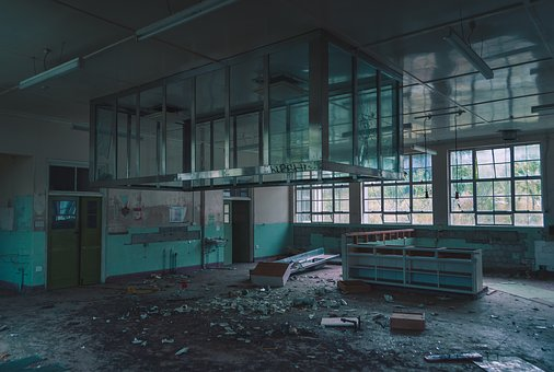 Industrial, Factory, Warehouse, Construction, Damaged