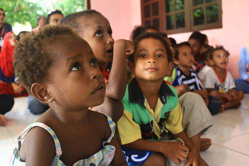 Papuan, Young Children, Sorong, Indonesian, Learn