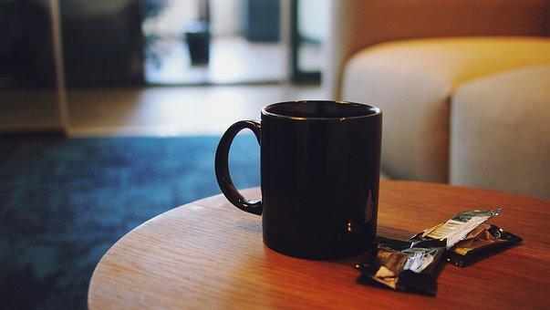 Coffee, Cup, Mug, Table, Office