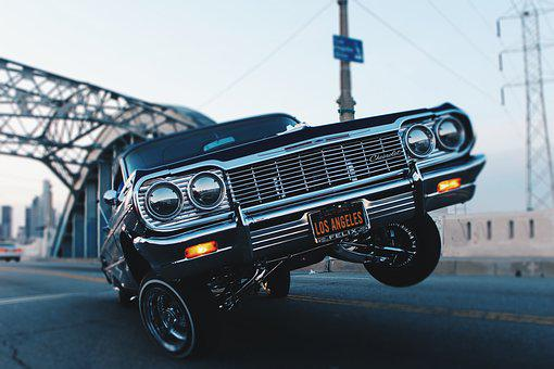 Car, Low Rider, Vintage, Oldschool, Automotive, Driving