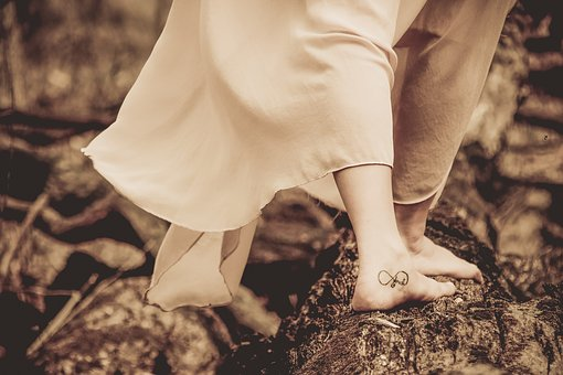 Feet, Dress, Tattoo, People