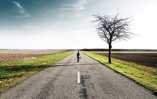 Rural, Road, Countryside, Landscape, Nature, Guy, Man