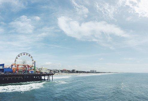 Beach, Ocean, Sea, Water, Waves, Blue, Sky, Sunshine