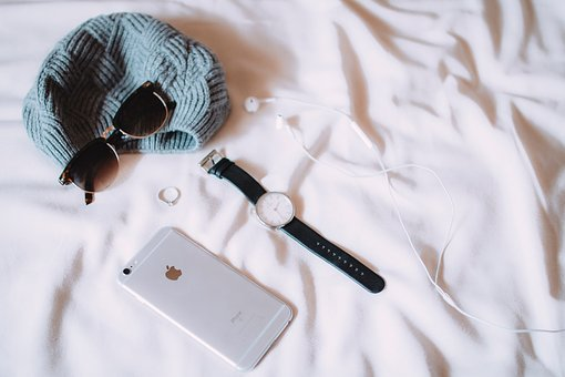 Iphone, Mobile, Smartphone, Bed, Sheets, Watch