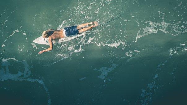 Surfer, Surfing, Guy, Man, People, Ocean, Sea, Sunshine
