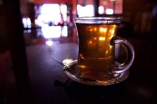Tea, Dark, Turkish, Tea House, Clear, Low Key
