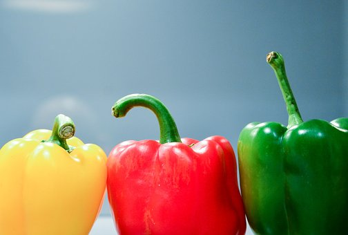 Peppers, Vegetables, Food, Healthy, Yellow, Red, Green