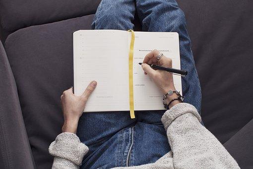 Journal, Notepad, Notebook, Pen, Writing