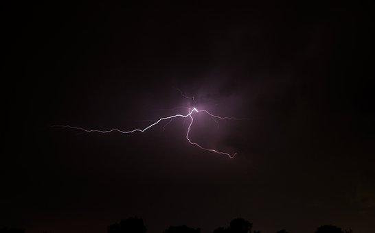 Lightning, Storm, Dark, Night, Sky