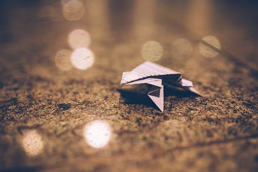 Origami, Paper, Blurry, Abstract, Ground