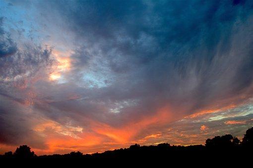 Sunset, Clouds, Landscape, Dramatic, Colors, Sky
