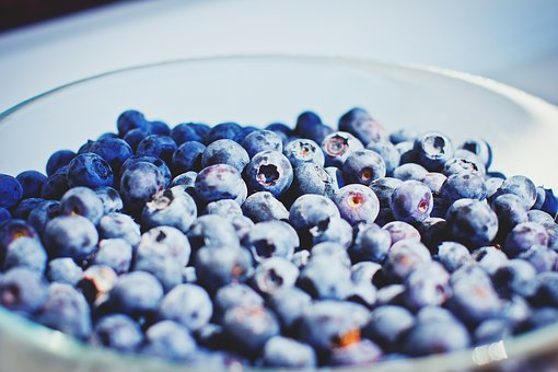 Blueberries, Fruits, Bowl, Healthy