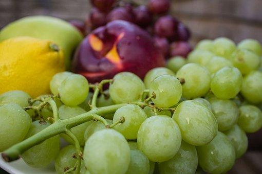 Grapes, Lemon, Apples, Fruits, Healthy
