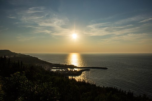 Sunset, Dusk, Sky, Clouds, Ocean, Sea, Horizon, Coast