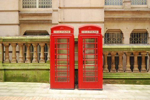 Red, Telephone Booth, City