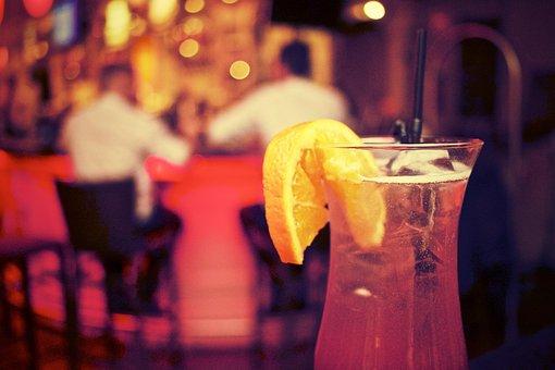 Cocktail, Drink, Alcohol, Glass, Orange, Slice