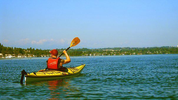 Kayak, Lake, Water, Sunshine, Summer, Outdoors, Sports