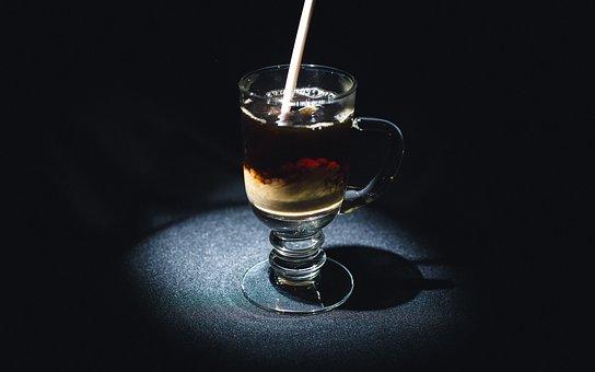 Iced, Coffee, Cafe, Cream, Straw