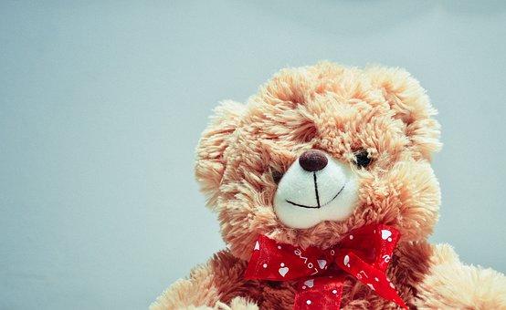 Teddy Bear, Stuffed Animal, Toys, Children, Objects