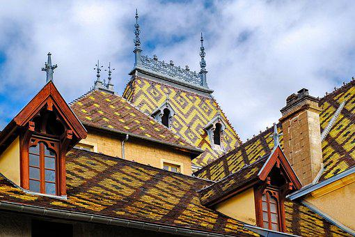 Roof, Tile, Varnished Tile, Architecture, Aloxe, Corton